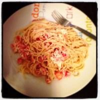 Ricotta and Basil Pasta