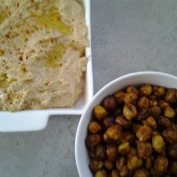 Peppy Party  Duo: Spicy Hummus and Crunchy Roasted Chickpeas