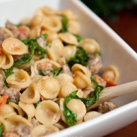 Orecchiette with Sausage and Arugula