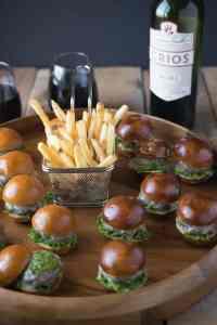 Chimichurri burger bites