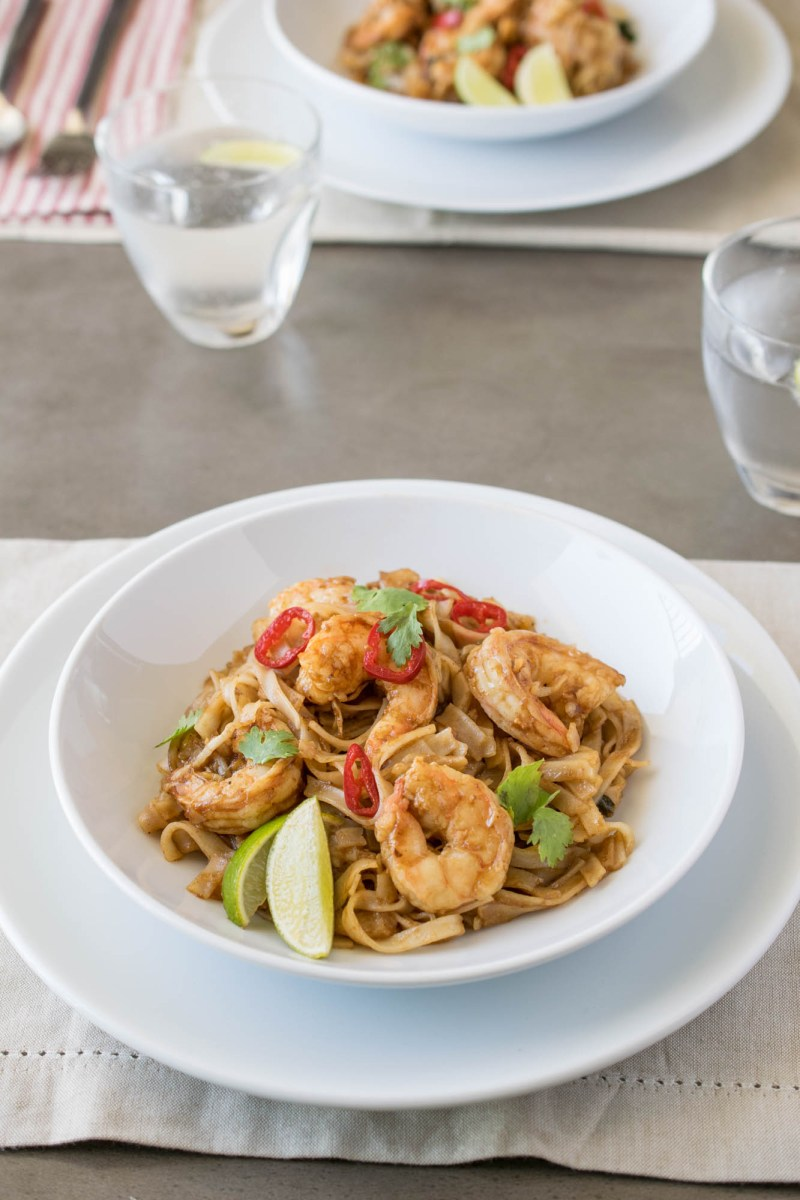 This shrimp pad Thai is an easy restaurant-quality dish that can easily be made at home in 20 minutes and all the ingredients can be delivered right to your doorstep.