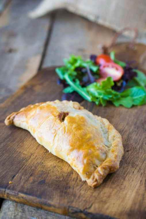 Traditional Cornish pasty are savory packages of beef and potatoes wrapped in flaky, buttery pastry. It makes a wonderful lunch on a chilly day.