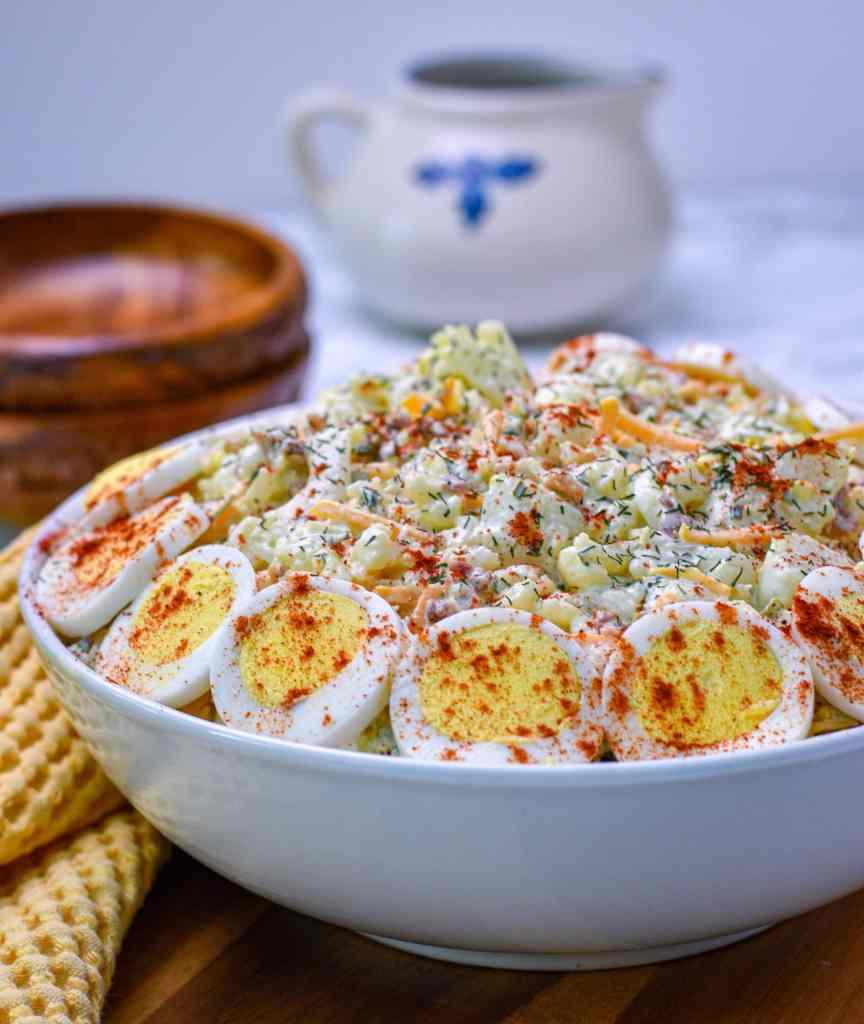 Cauliflower Low carb potatoStyle salad