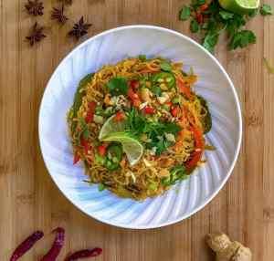 Keto Spicy Thai Noodles