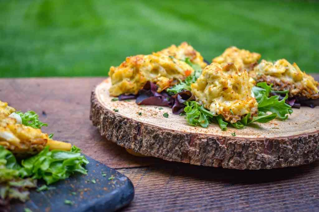 Chesapeake crab stuffed Morel Mushrooms