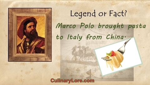 Did Marco Polo Bring Pasta to Italy from China?