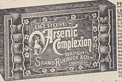 Dr. Rose Arsenic Complexion wafers, Sears Roebuck vintage ad