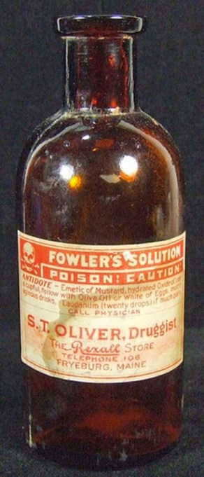 Fowler's Solution, patent medicine containing arsenic