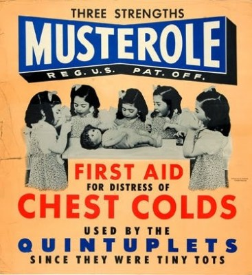 Musterole vintage Quintuplets ad
