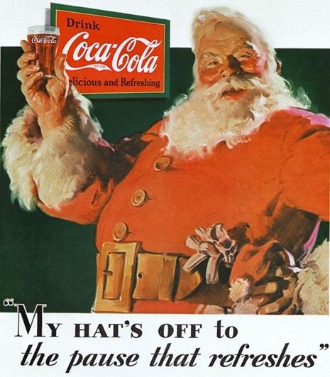 1931 Haddon Sundblom Coca-Cola Santa-Claus vintage Ad