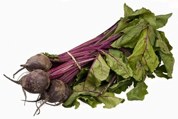 beet greens and roots