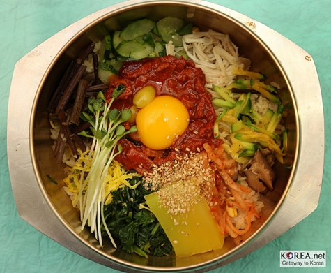 Korean Bibambap bowl