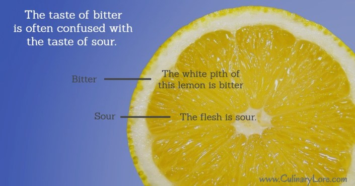 bitter versus sour taste