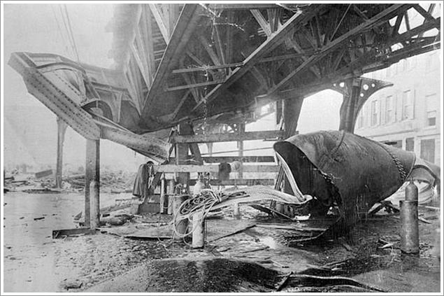 Boston molasses flood railway collapse