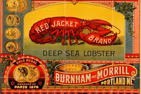 1891 vintage ad for canned lobster
