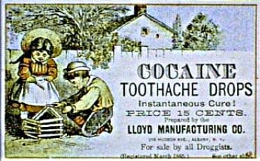 Cocaine Tootache Drops circa 1865