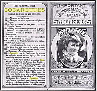 cocarettes cocaine cigarettes advertisement