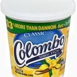 Columbo yogurt carton, vanilla