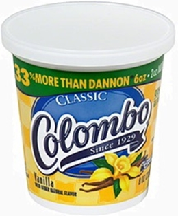 Columbo yogurt carton, vanilla