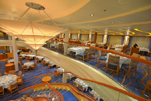 dining room on cruise ship