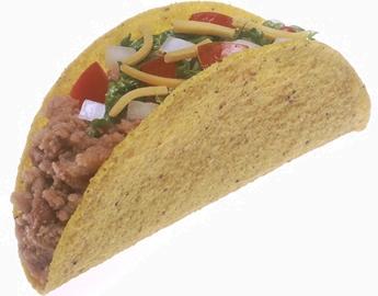 Crunchy crispy taco shell