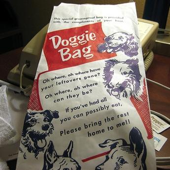doggie bag, original from Bagcraft