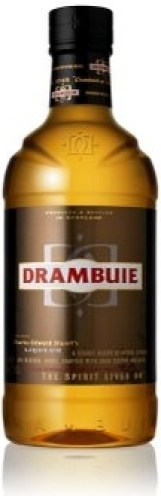 bottle of drambuie, Scottish liqueur