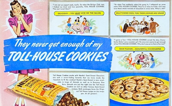 early Toll House chocolate chip cookie vintage ad