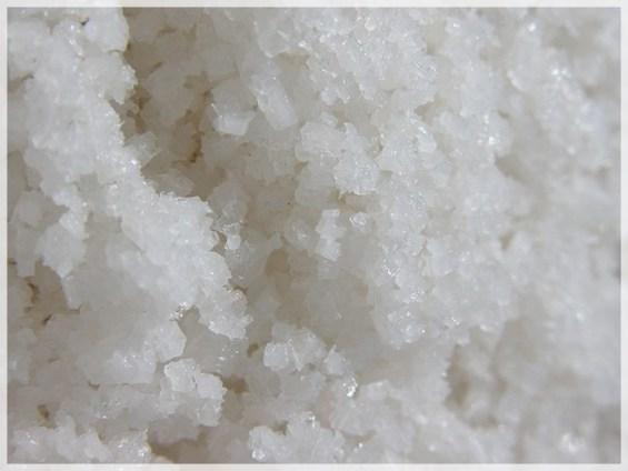Fleur de sal closeup