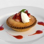 Frangipane Tartlet with Strawberry Coulis