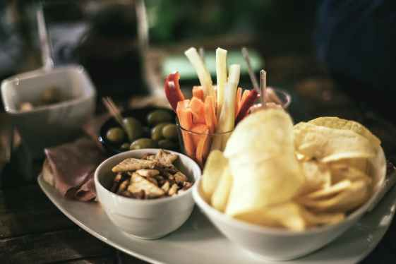free bar snacks