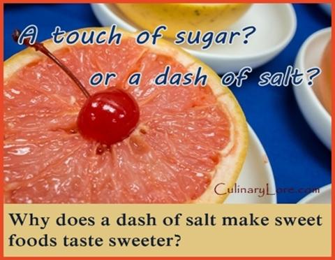why does salt make grapefruit taste sweeter