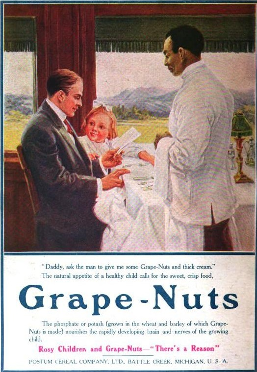 Grape Nuts magazine advertisement from 1910