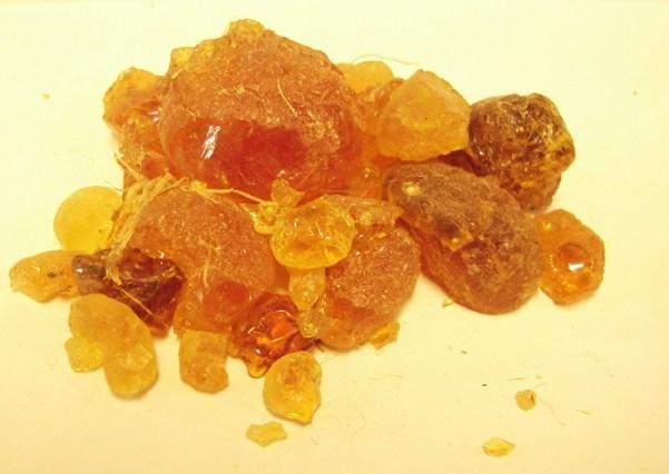 raw gum arabic closeup view