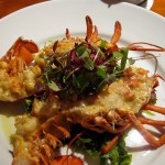 Lobster Thermidor on plate