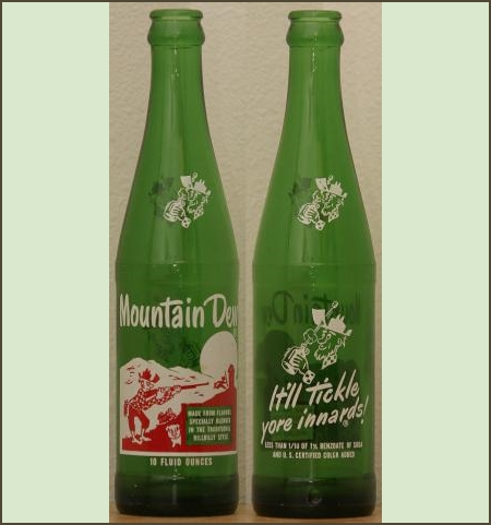 old mountain dew bottles
