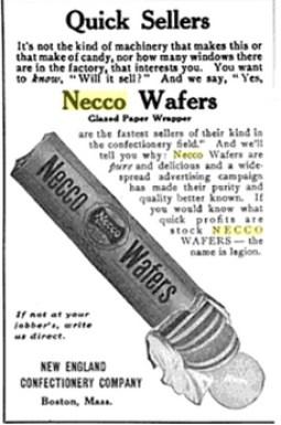 Old NECCO Wafers magazine ad