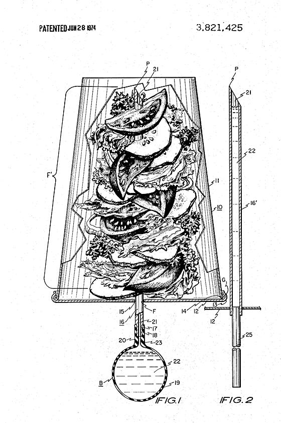 Salad on a Stick patent image