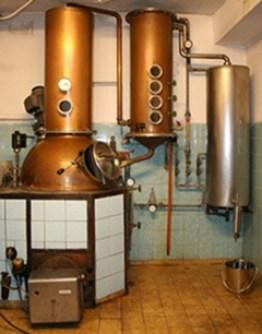 German Schnapps liqueur Distillery in Barvaria, Germany