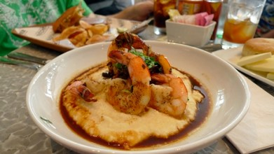 Shrimp and Grits in New Orleans