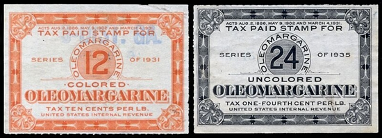 oleomargarine tax stamp