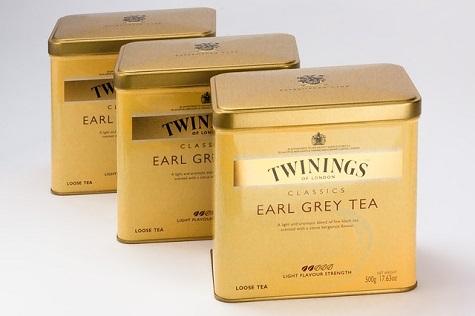 Twinnings Early Grey tea cannisters