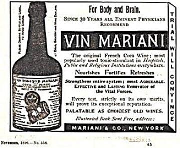 Vin Mariani Coca Wine vintage ad