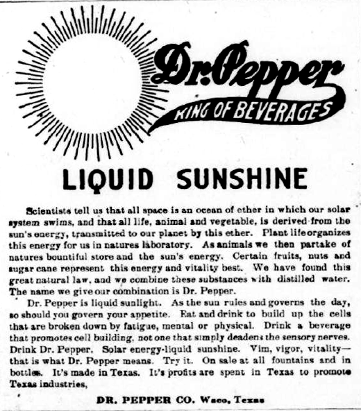 vintage dr pepper add with period after dr