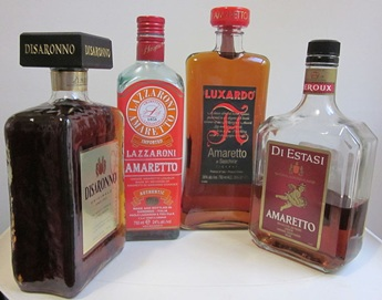 Bottles of Amaretto Liqueur