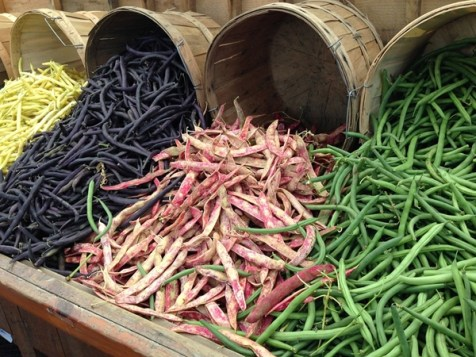 green beans, purple hull peas, etc. are all examples of legumes.