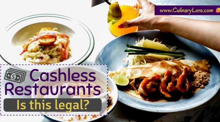 are cashless restaurants legal