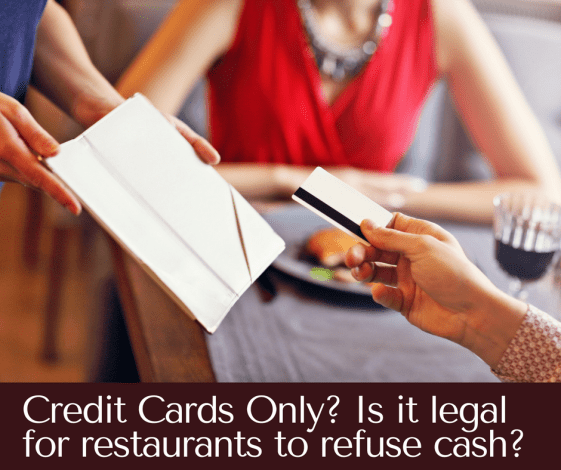It's illegal for restaurants to not accept cash and 6 other restaurant myths most people believe.