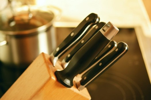 Small knife storage block