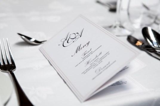 restaurant menu on table